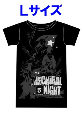 「THE CHiRAL NIGHT 5th ANNIVERSARY」ライブTシャツ【男性L】