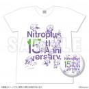 Nitroplus15周年記念Tシャツ&缶バッジセット ホワイト